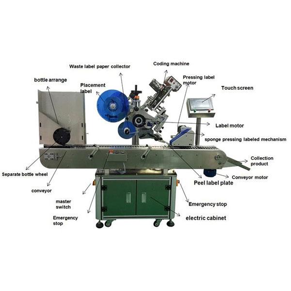 Фармацевтическая машина для прикрепления этикеток стикера пробирки 10-30 мм разливает по бутылкам диаметр