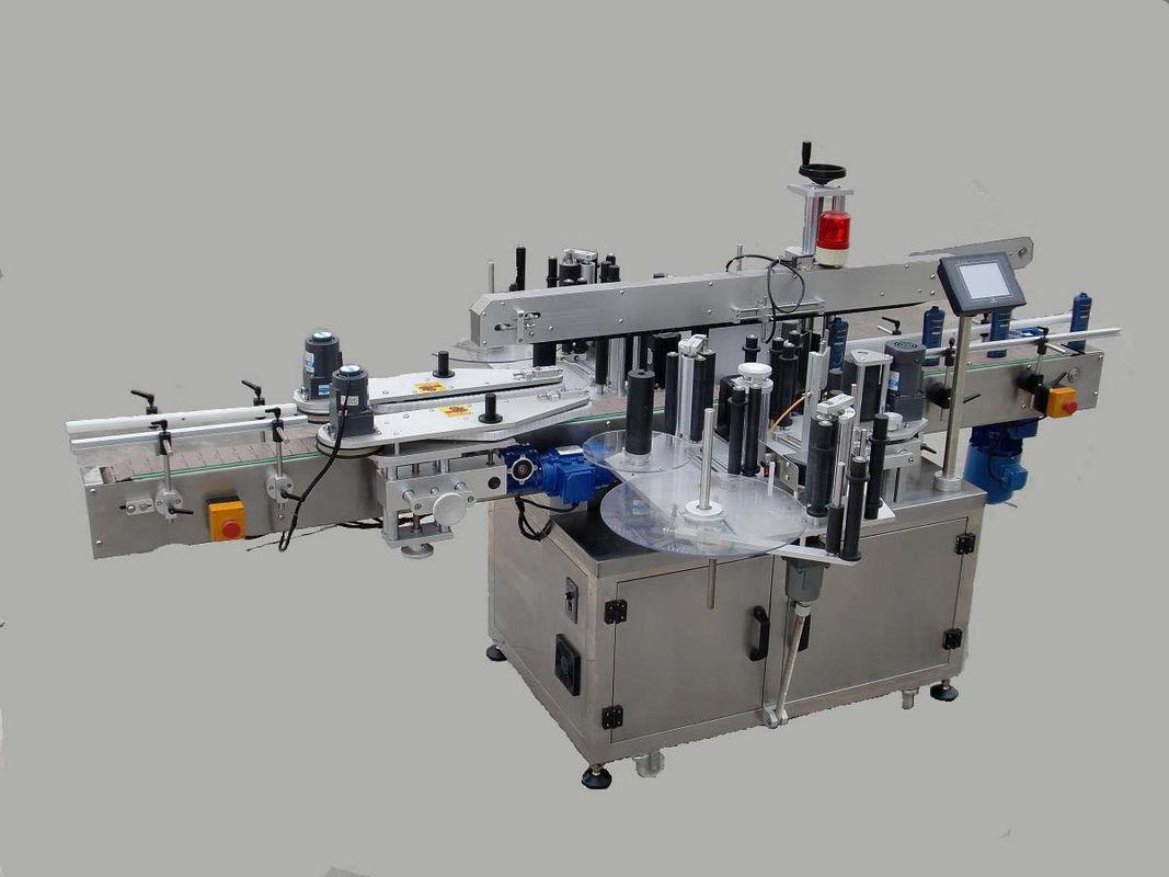 Автоматическая двухсторонняя машина для прикрепления этикеток стикера с устройством оповещения и машиной кодирования