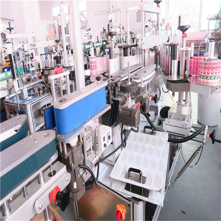 Двухсторонняя этикетировочная машина для бутылок для различных плоских квадратных опарников