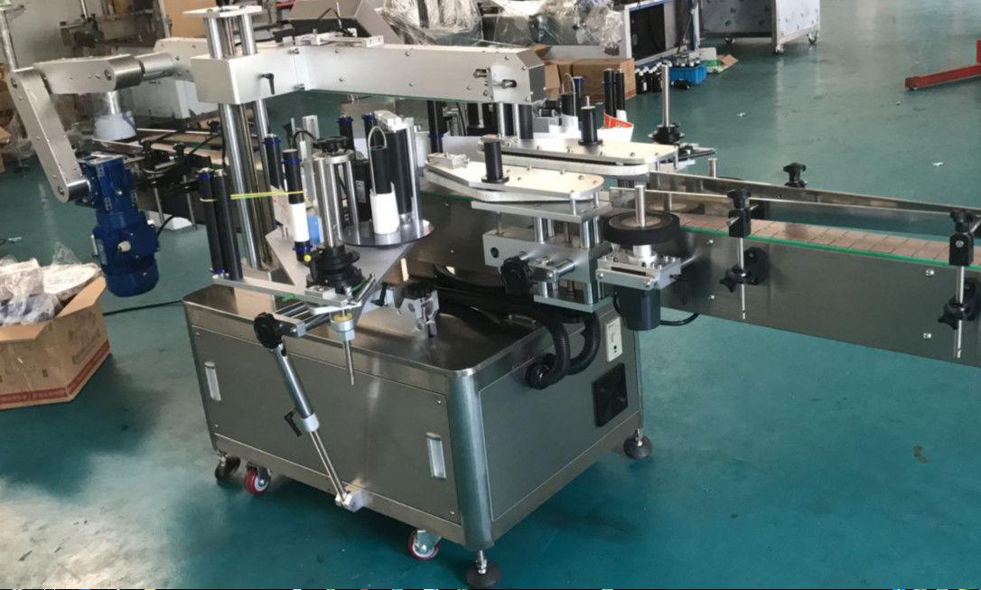 Высокоскоростная двухсторонняя этикетировочная машина для квадратных / круглых / плоских бутылок