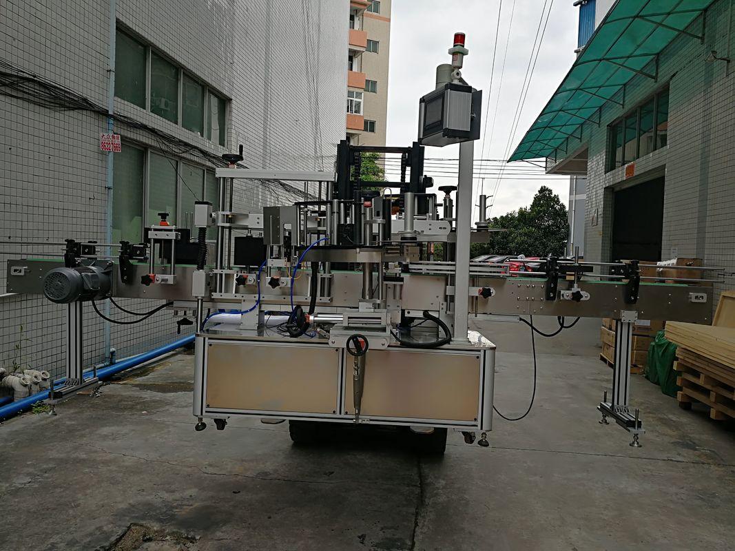 Автоматический двухсторонний аппликатор ярлыка машины для прикрепления этикеток стикера для пластикового опарника