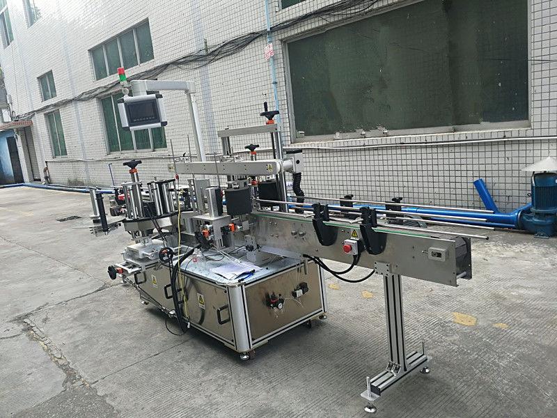 Машина для прикрепления этикеток бутылок с самоклеящимся стикером двусторонняя полностью автоматическая